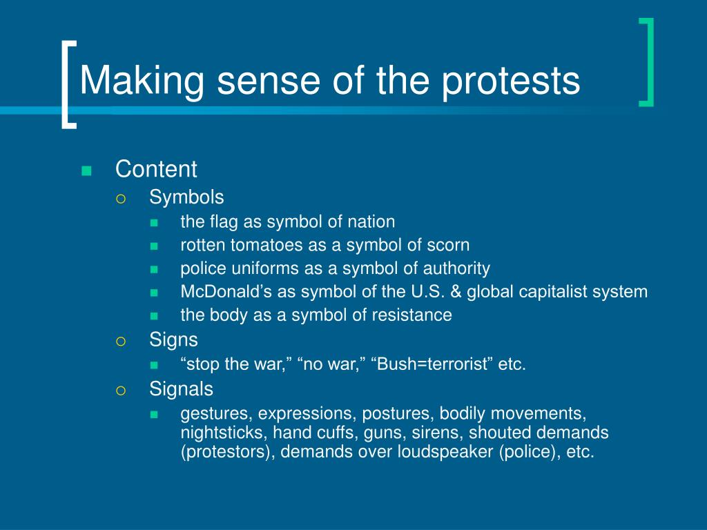 Making sense of the protests