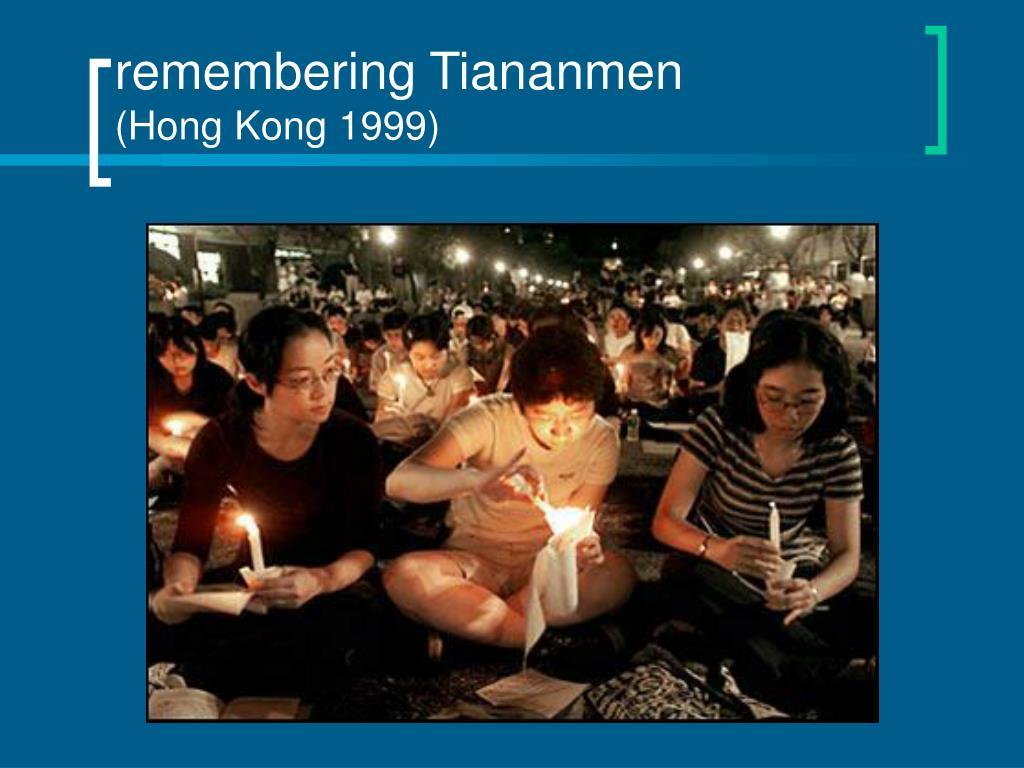 remembering Tiananmen