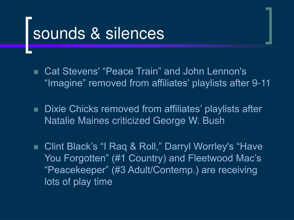 sounds & silences