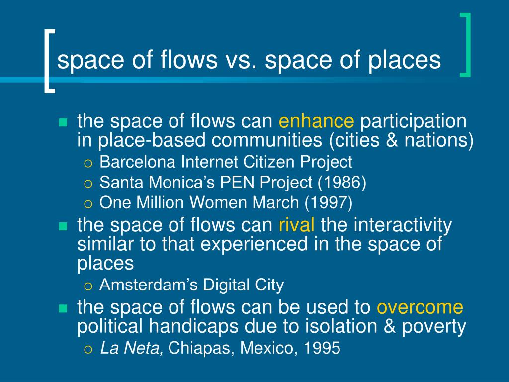 space of flows vs. space of places