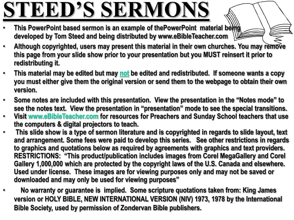 STEED'S SERMONS