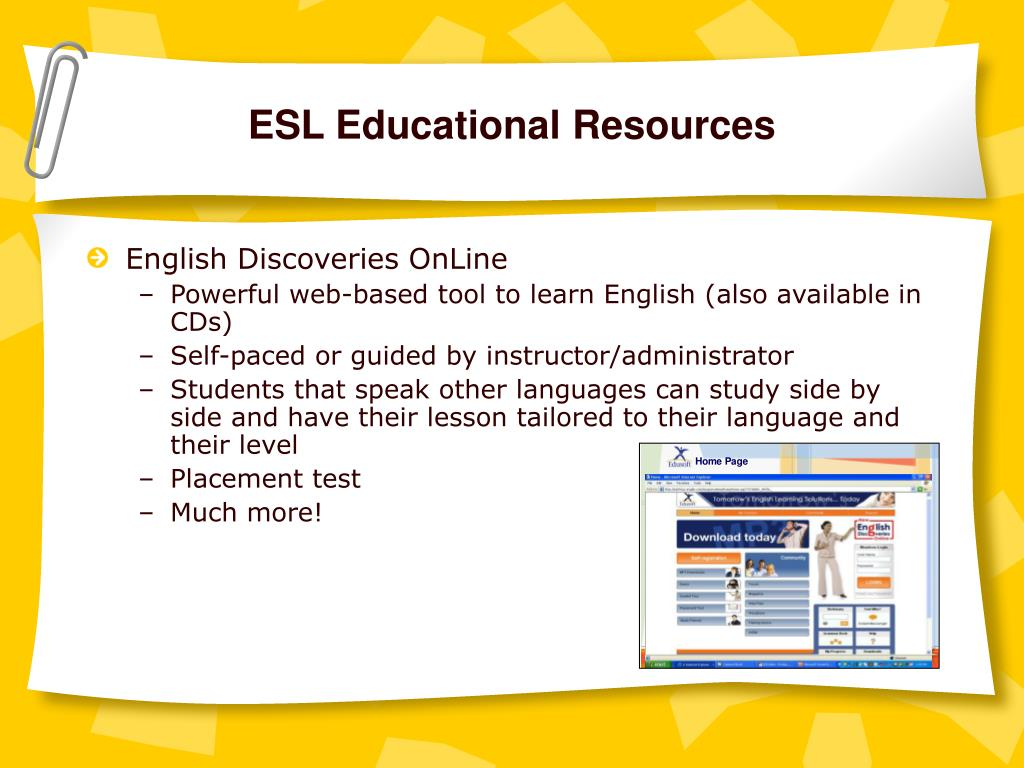ESL Educational Resources