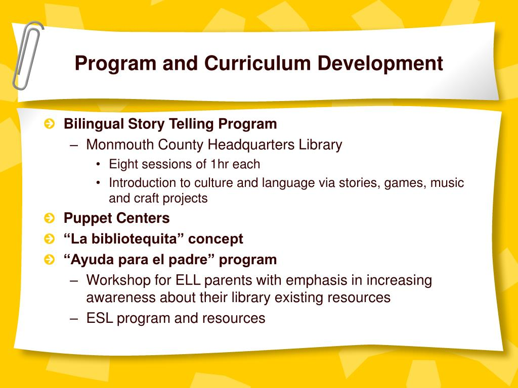 Program and Curriculum Development