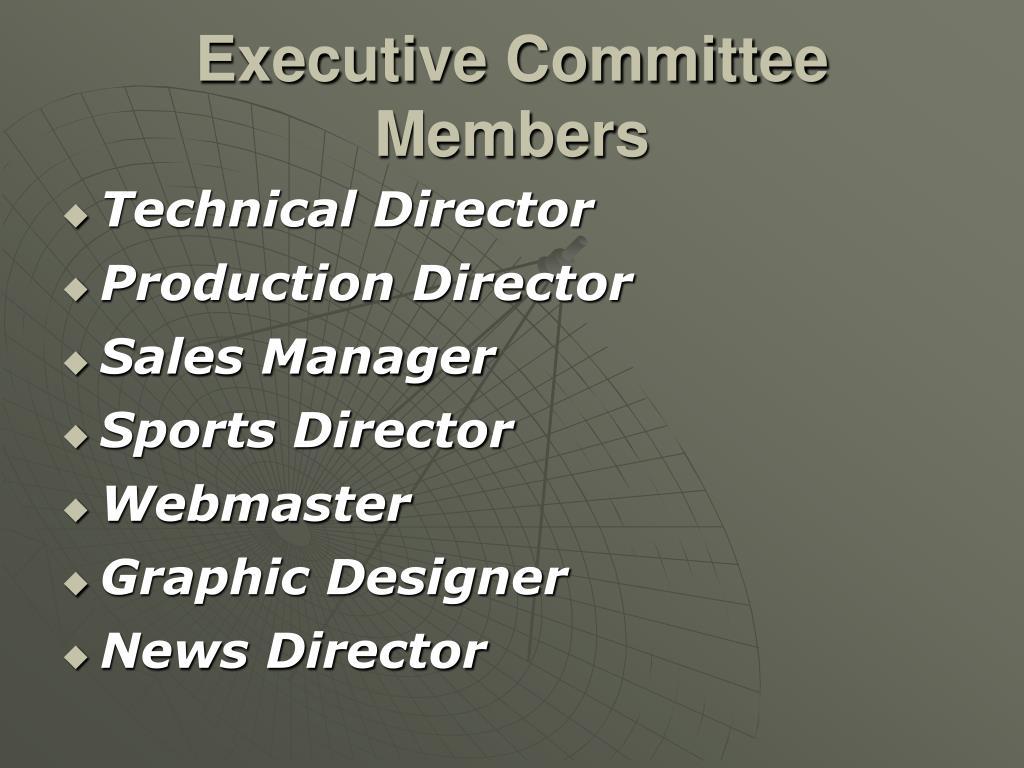 Executive Committee Members