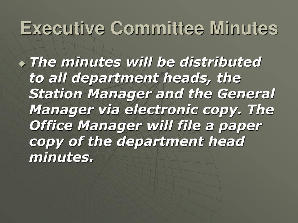 Executive Committee Minutes