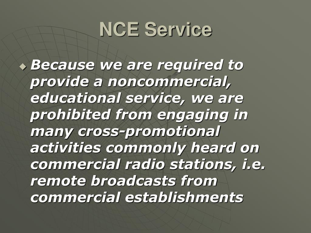 NCE Service