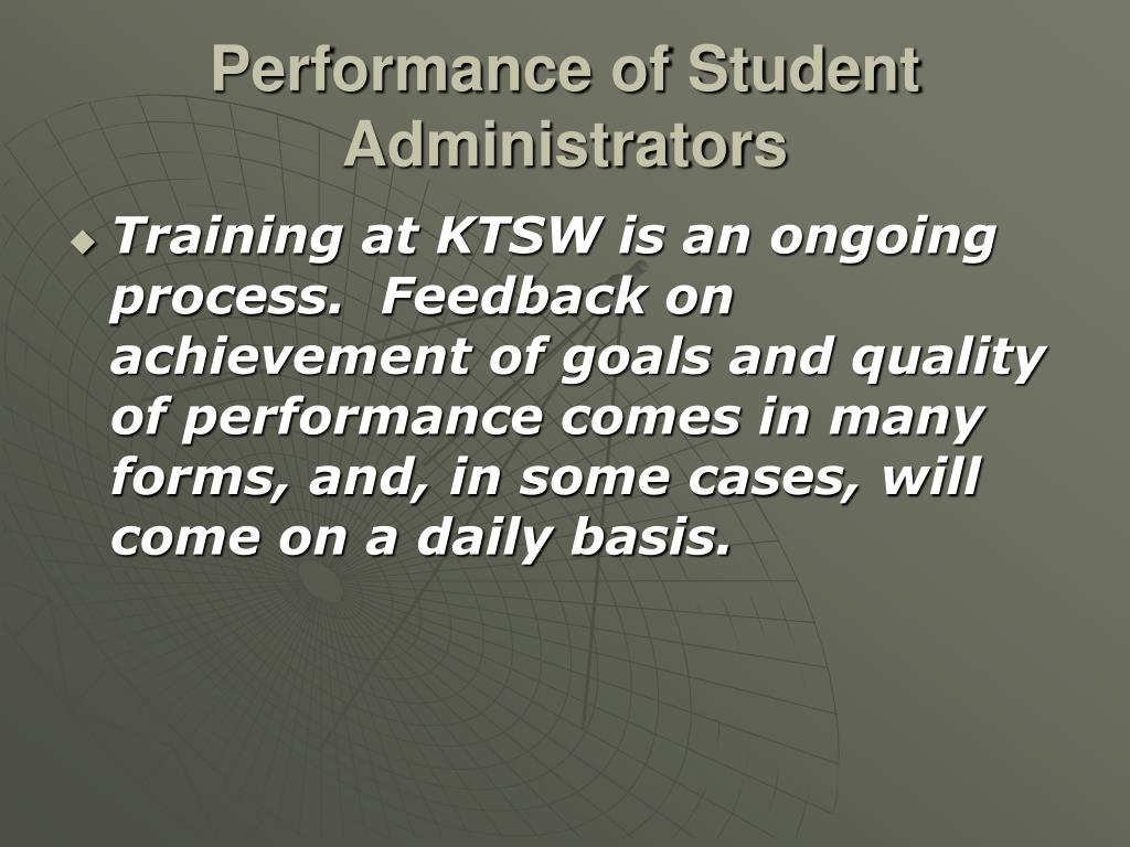 Performance of Student