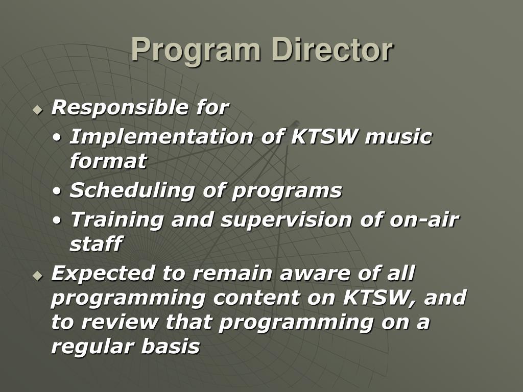 Program Director