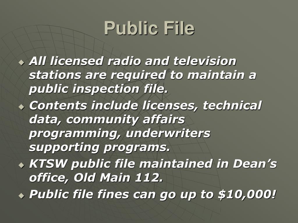 Public File