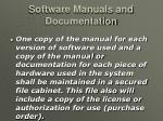 software manuals and documentation