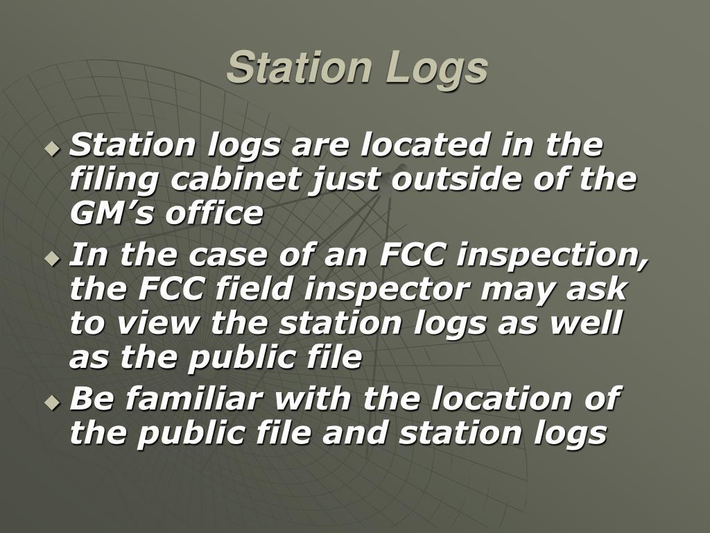 Station Logs