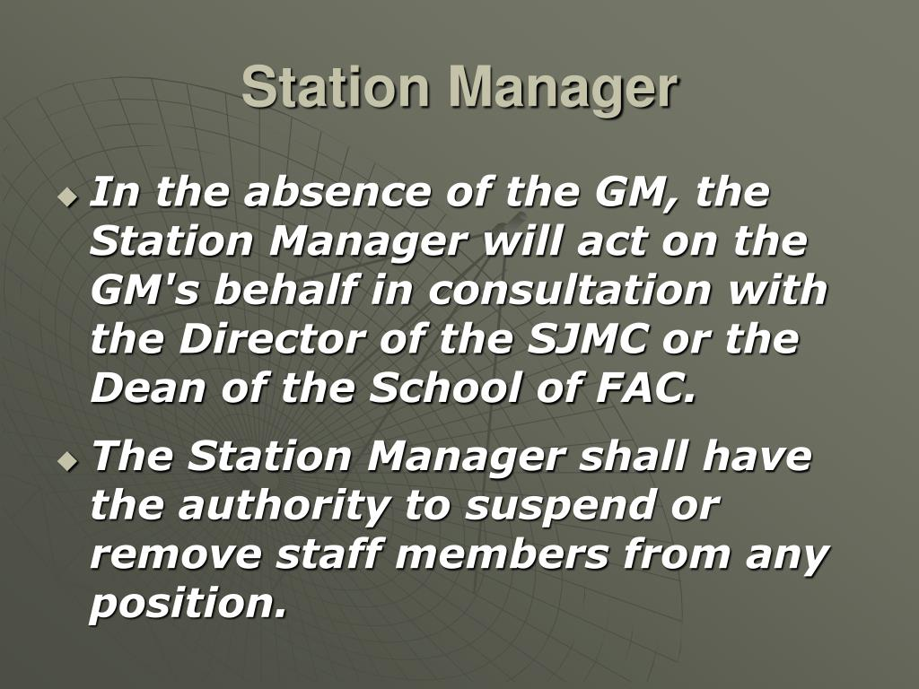 Station Manager