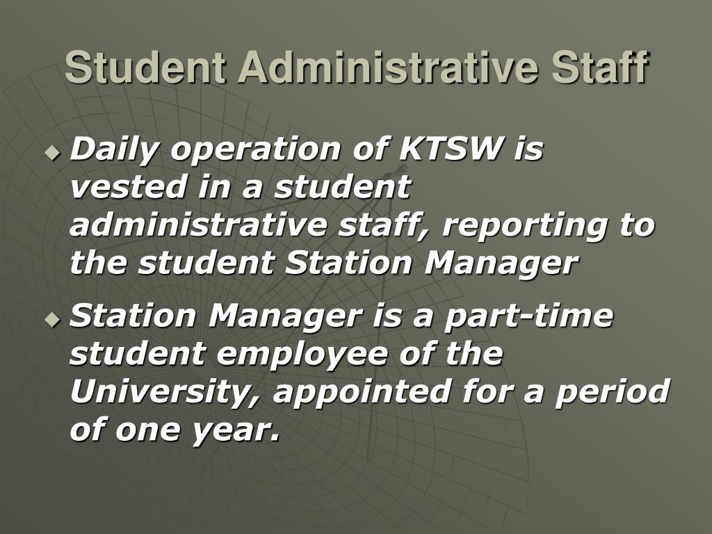 Student Administrative Staff