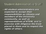 student administrative staff10