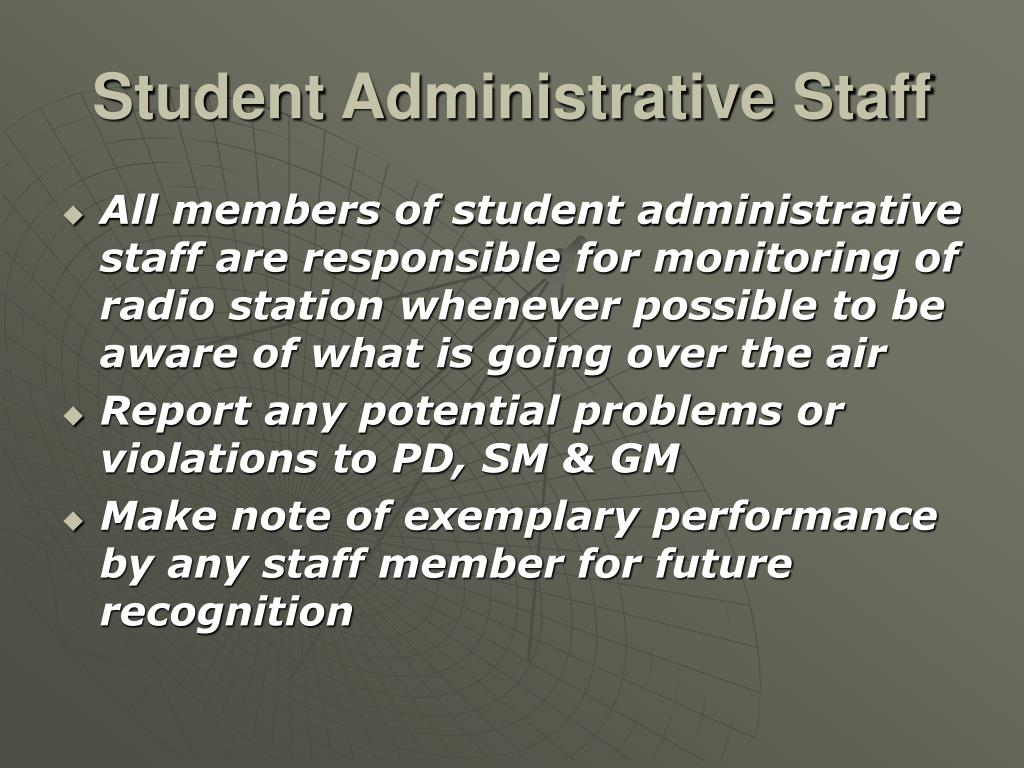 Student Administrative Staff