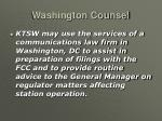 washington counsel
