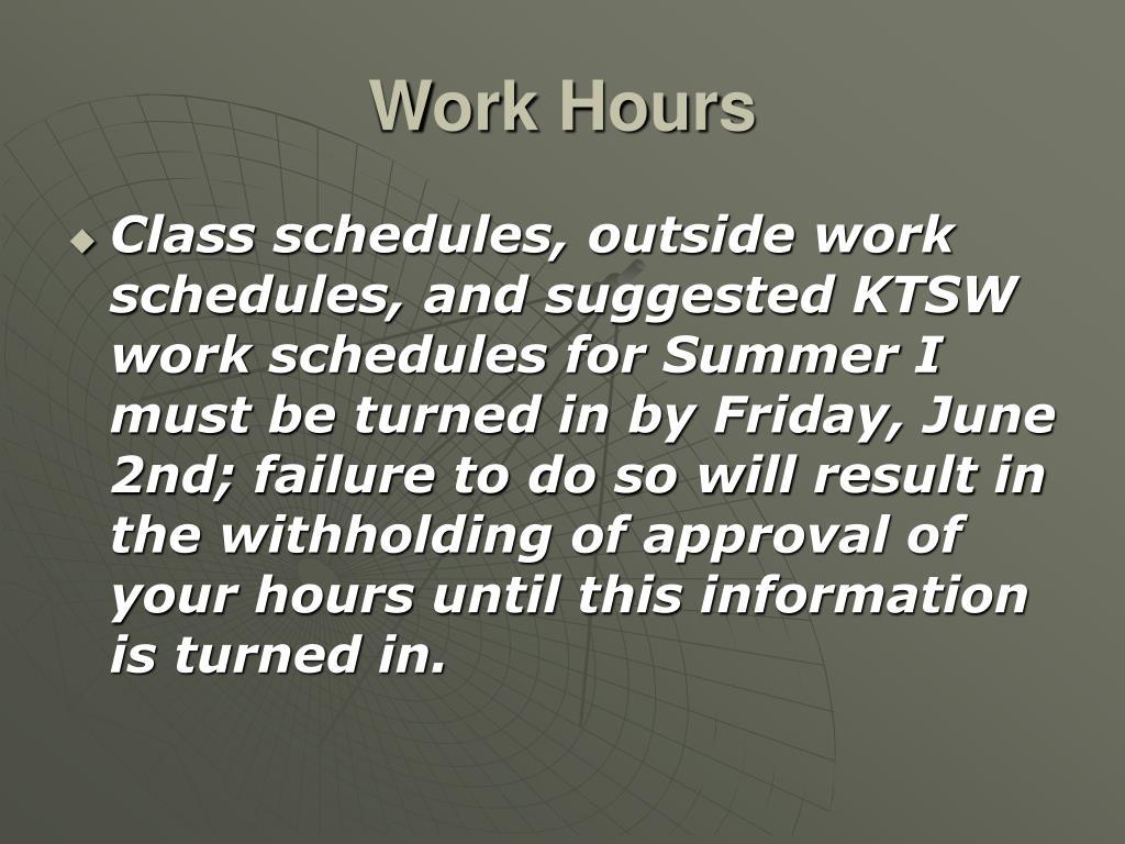 Work Hours