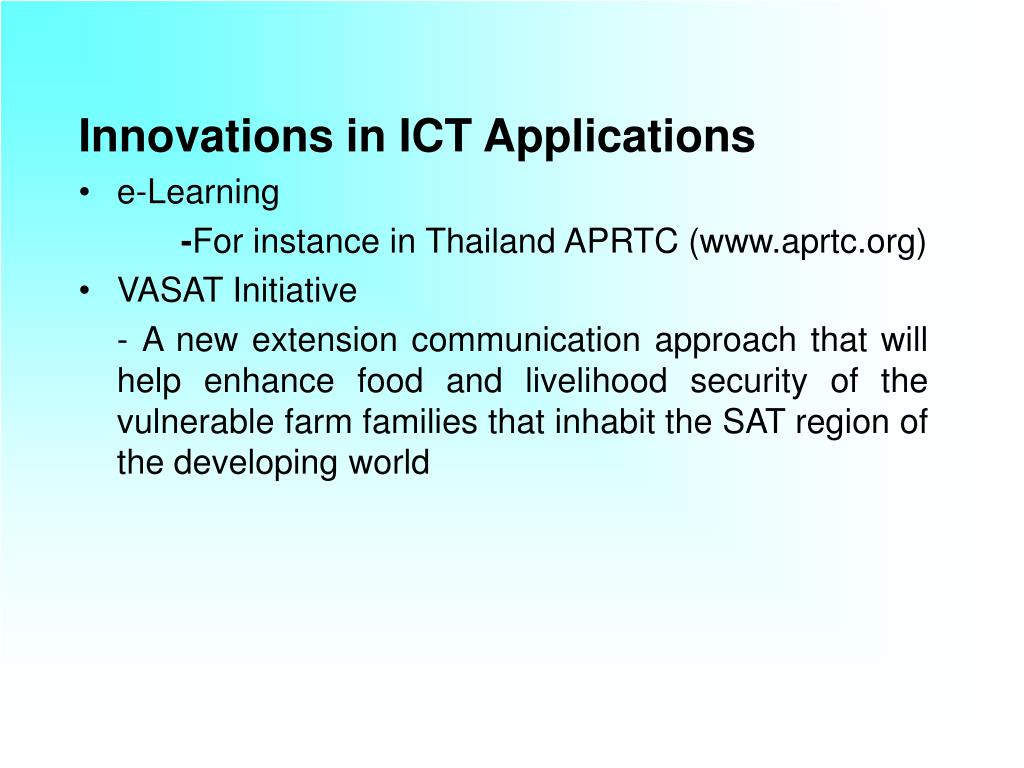 Innovations in ICT Applications