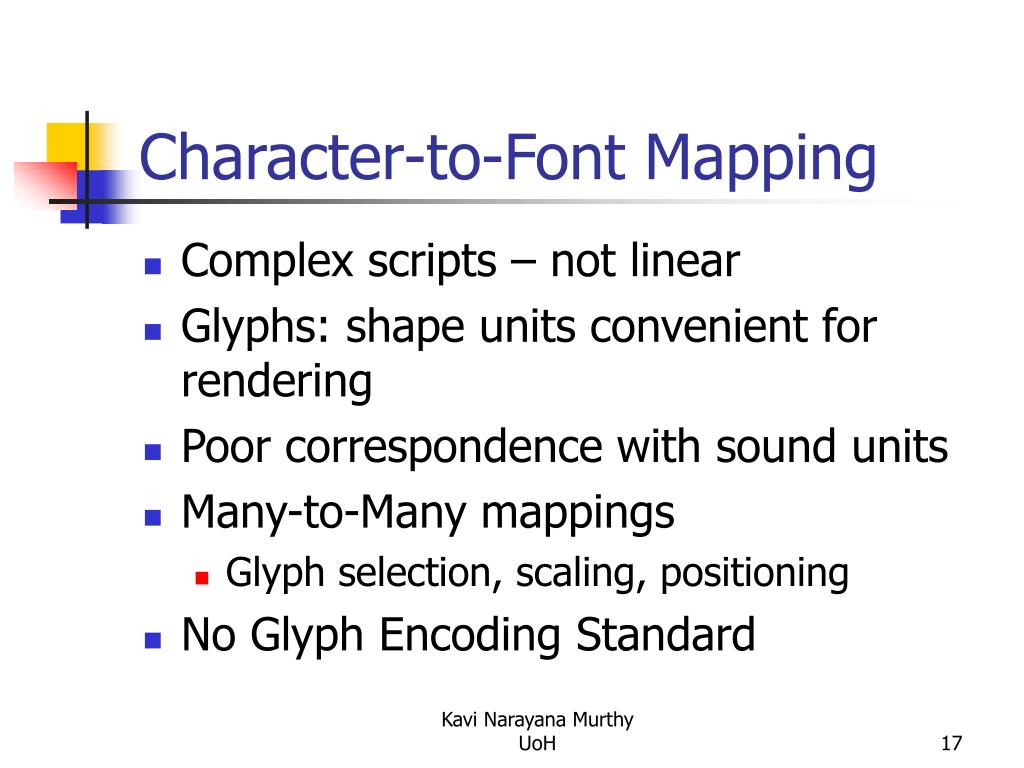 Character-to-Font Mapping