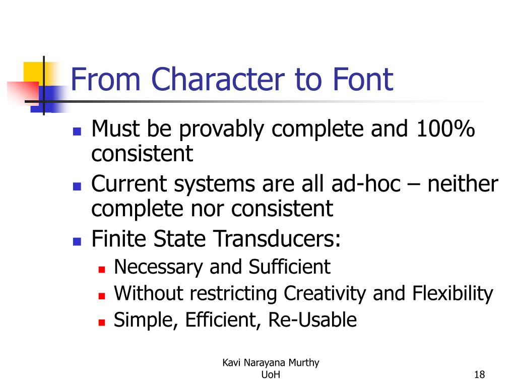 From Character to Font
