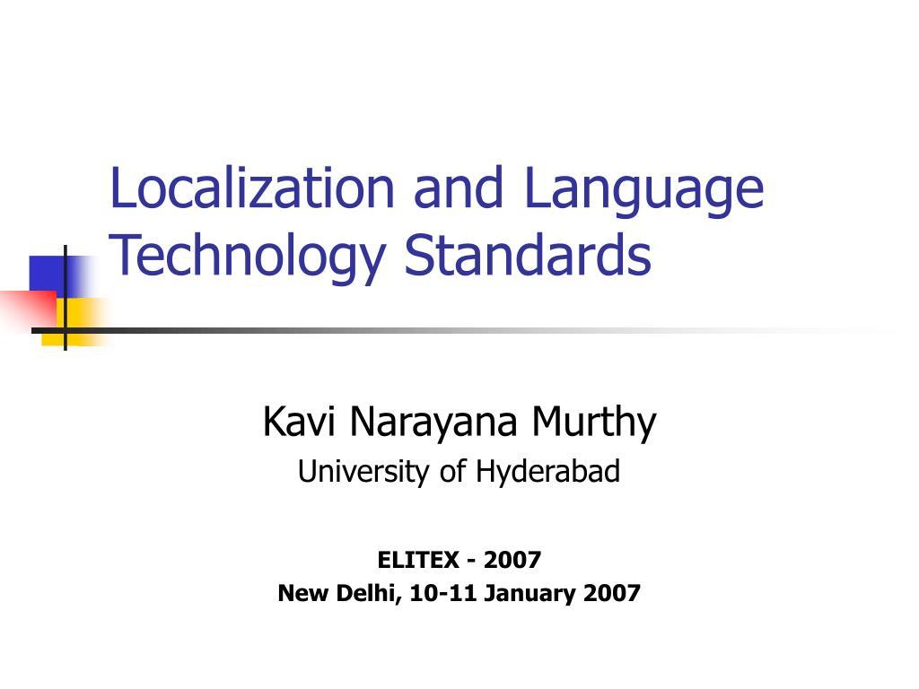 Localization and Language Technology Standards