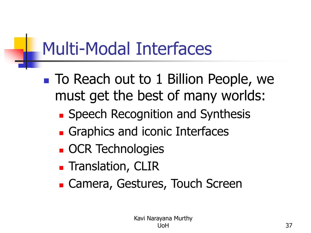 Multi-Modal Interfaces