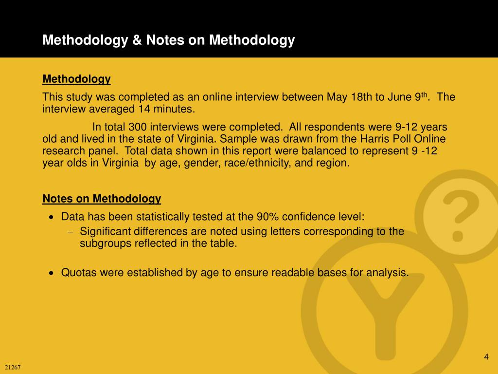 Methodology & Notes on Methodology