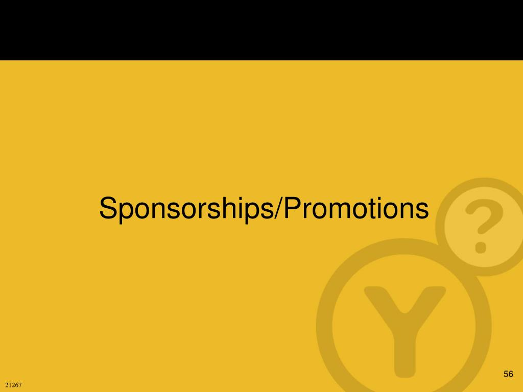 Sponsorships/Promotions