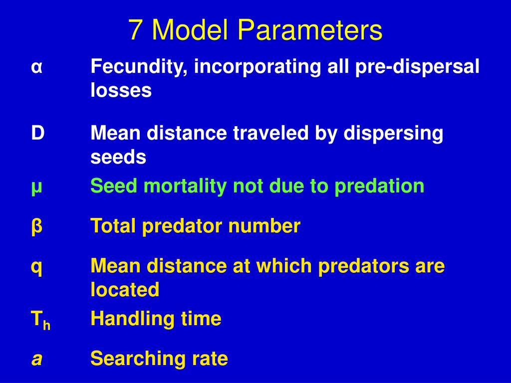 7 Model Parameters