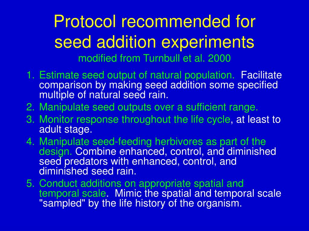 Protocol recommended for