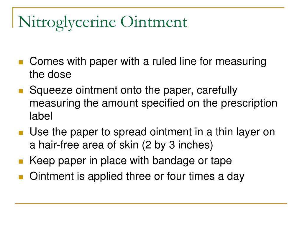 Nitroglycerine Ointment