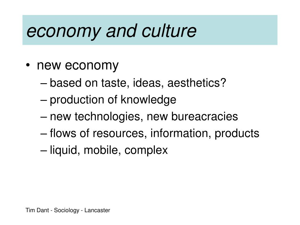 economy and culture