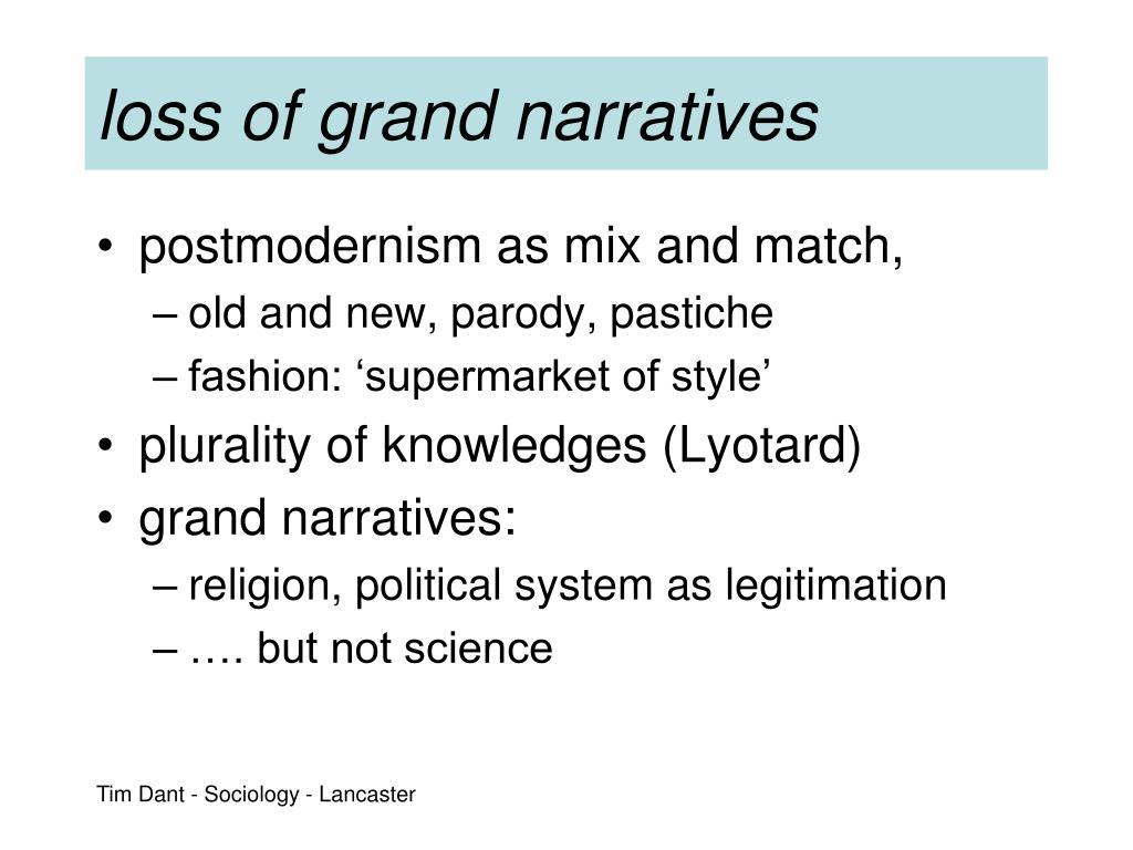 loss of grand narratives