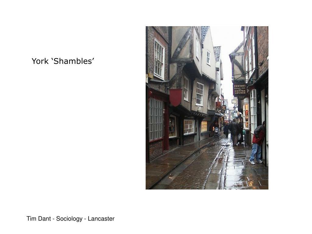 York 'Shambles'