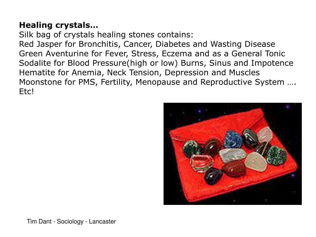 Healing crystals…