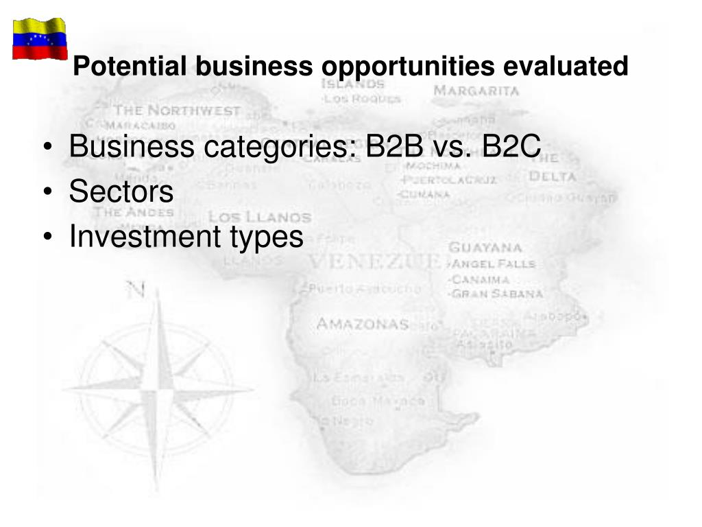 Potential business opportunities evaluated