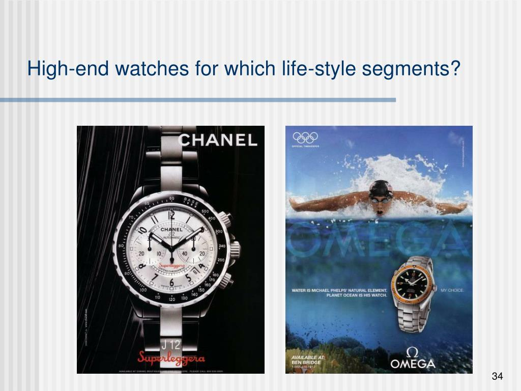 High-end watches for which life-style segments?