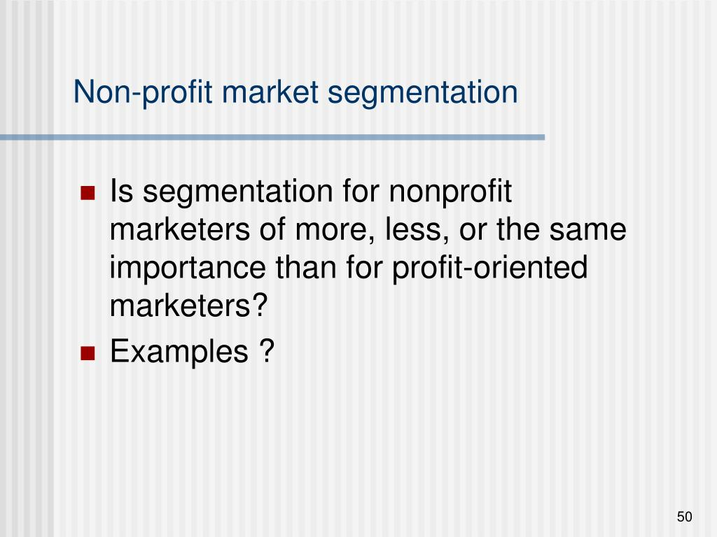 Non-profit market segmentation