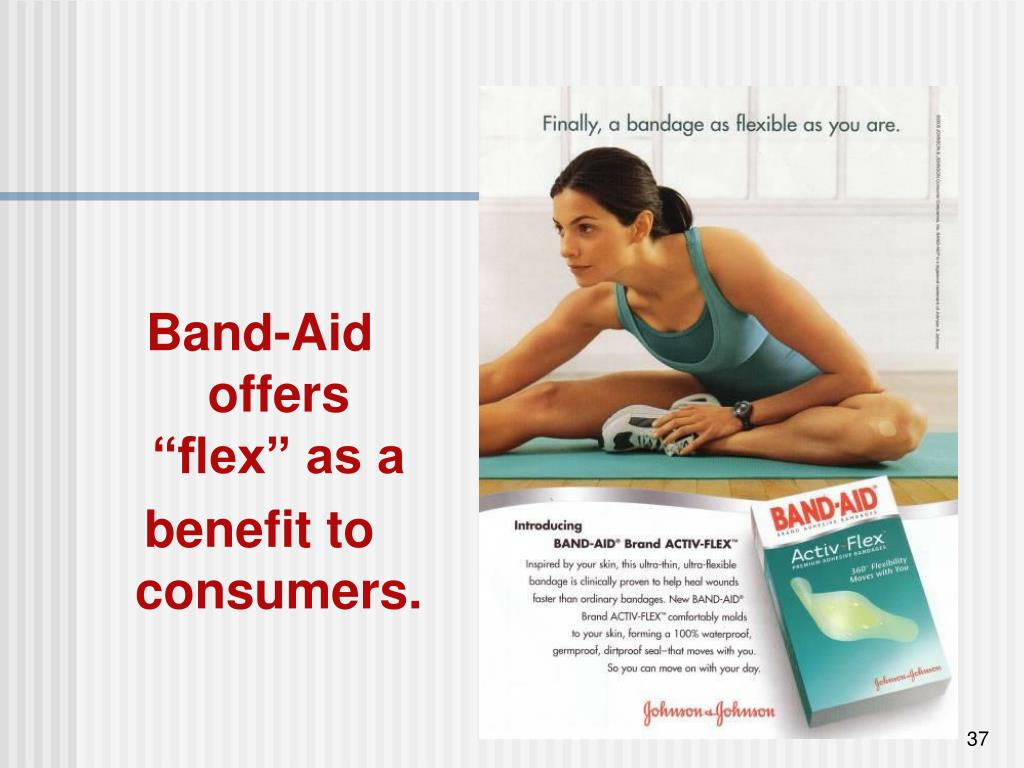 "Band-Aid offers ""flex"" as a"