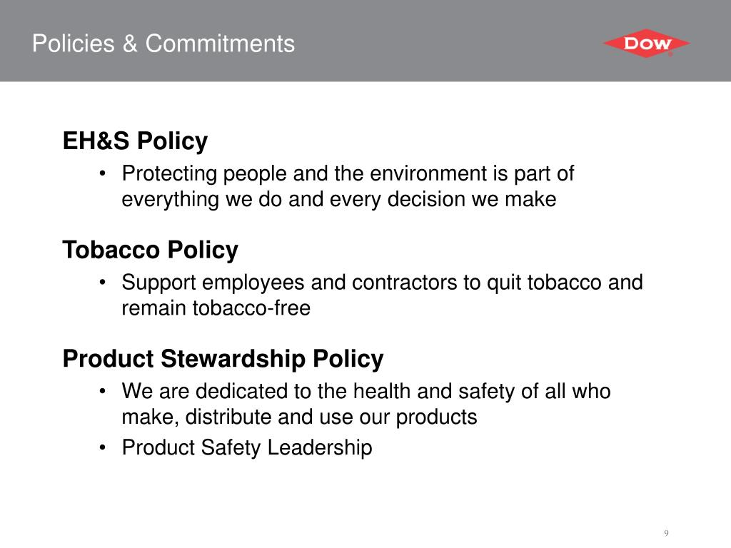 Policies & Commitments