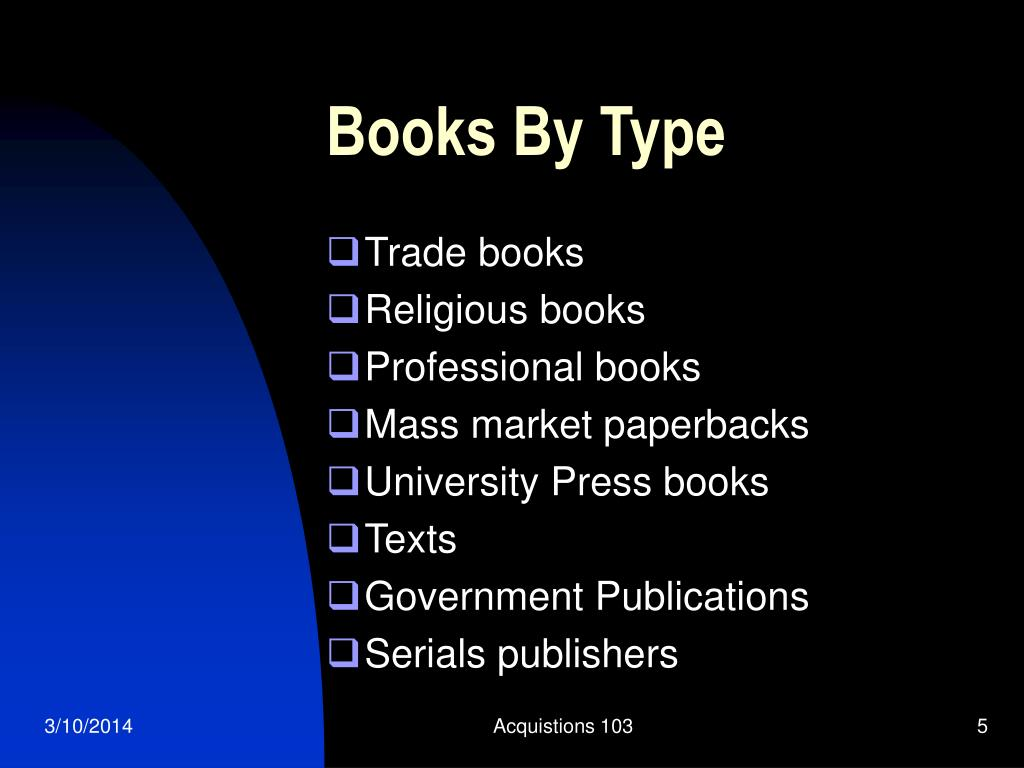 Books By Type