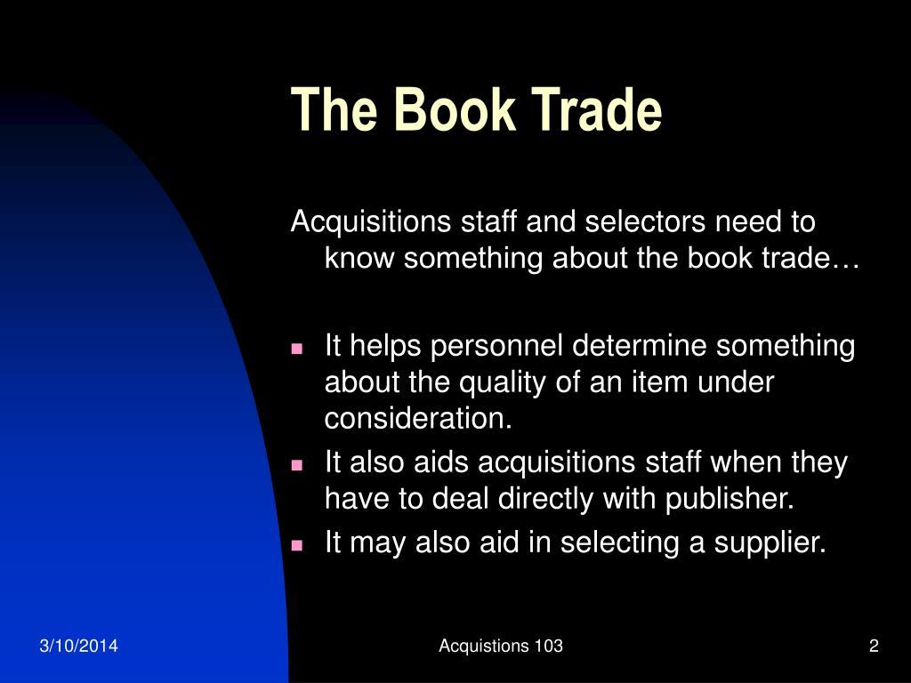 The Book Trade