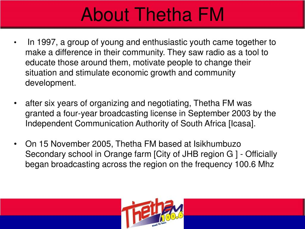 About Thetha FM