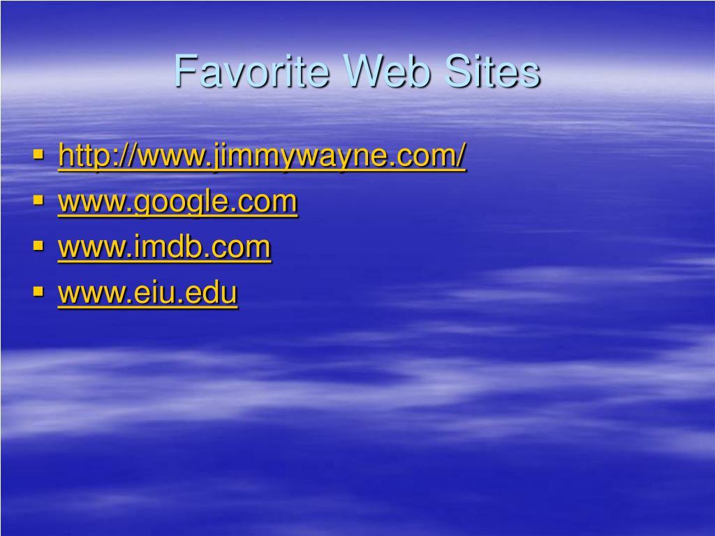 Favorite Web Sites