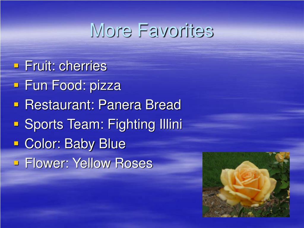 More Favorites
