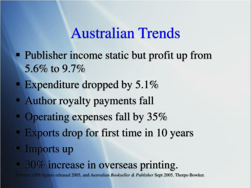 Australian Trends