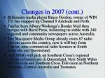 changes in 2007 cont