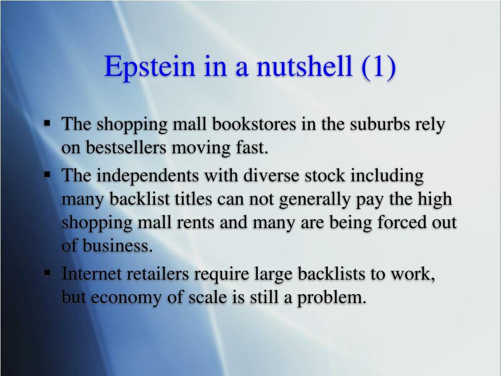 Epstein in a nutshell (1)