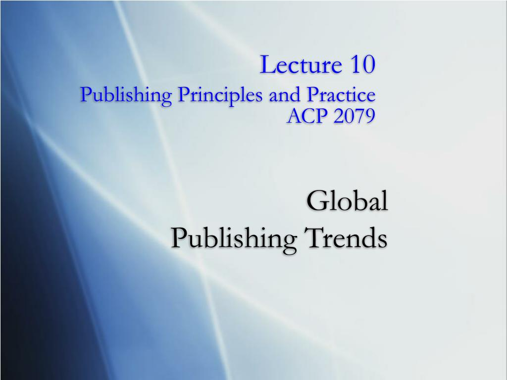 global publishing trends
