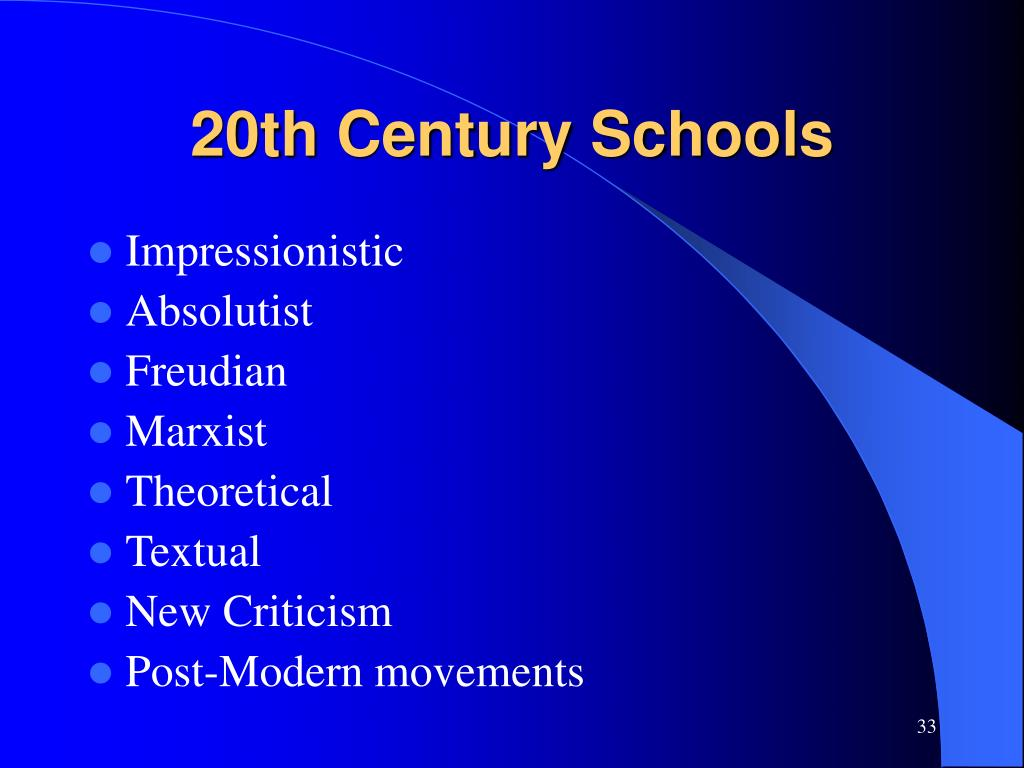 20th Century Schools